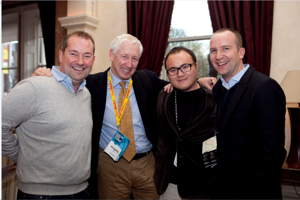 Dublin Mashup; Paul Hayes, Kingsley Aikins, Mashable's Ben Parr and SkillPages CEO & Co-Founder, Iain Mac Donald.